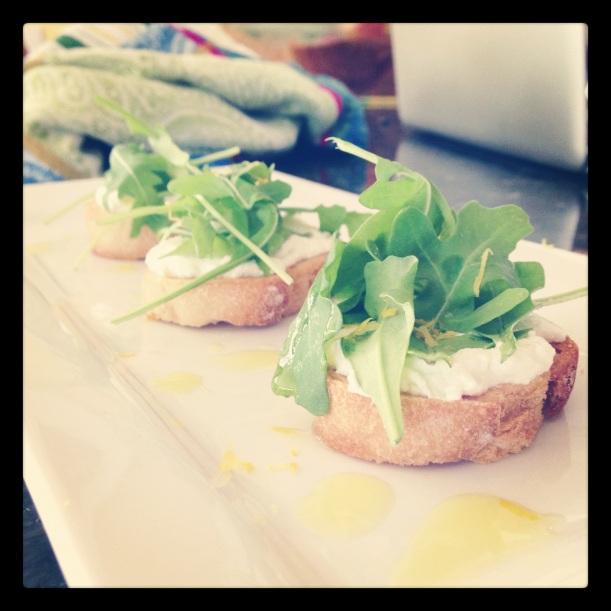 aruguala ricotta bread